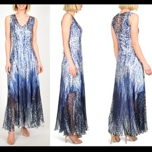 NWD Komarov Charmeuse Maxi Dress in Blue [SZ XL ]